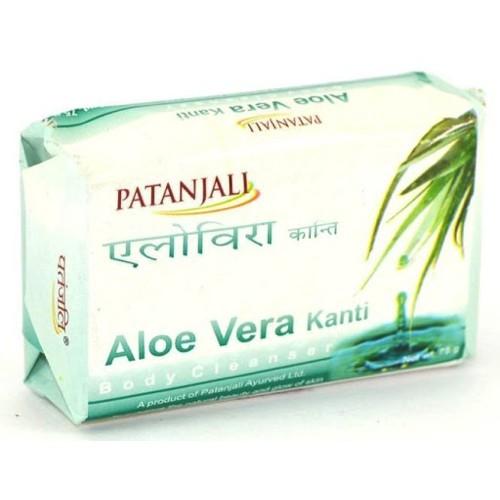 Мыло с алоэ вера Патанджали / Patanjali Aloe Vera Kanti 75 гр.