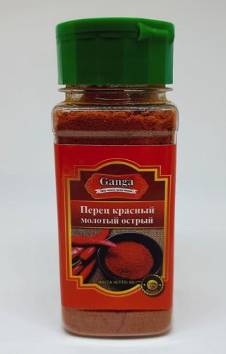 Перец красный молотый острый Ganga Foods 60 гр.
